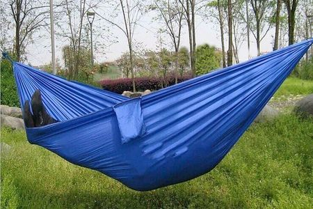 Double hammock and a touring couple is perfect