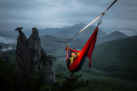 Get healthier life by using the parachute hammock