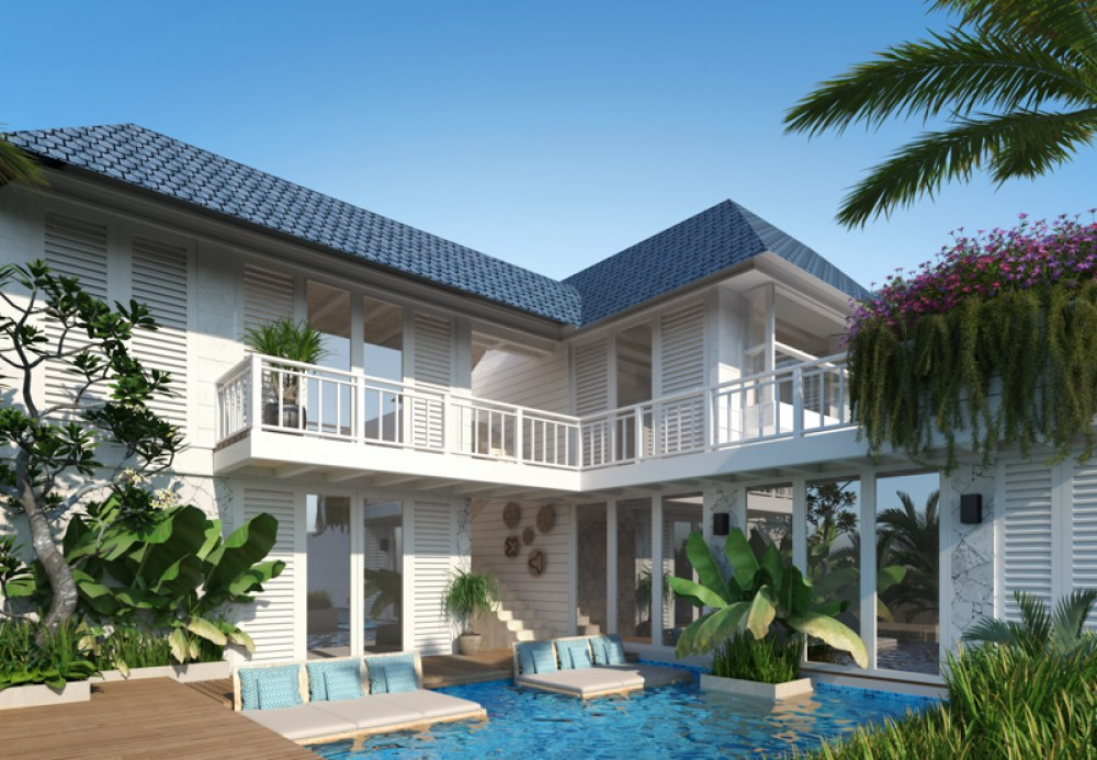 a comfort bali property for rent with a private pool